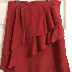 Layered Burnt Orange Skirt
